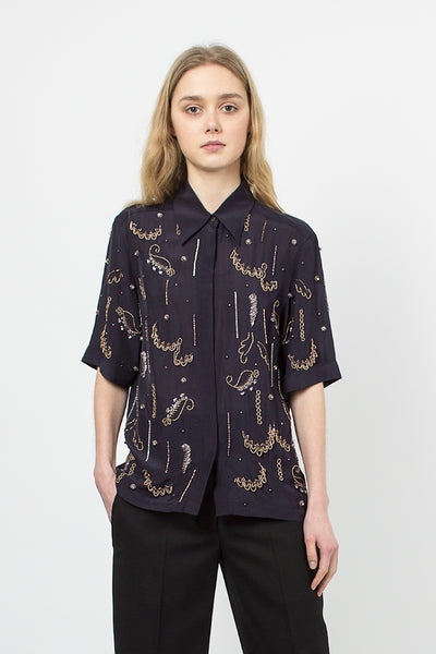 Cakunga Navy Embellished Shirt