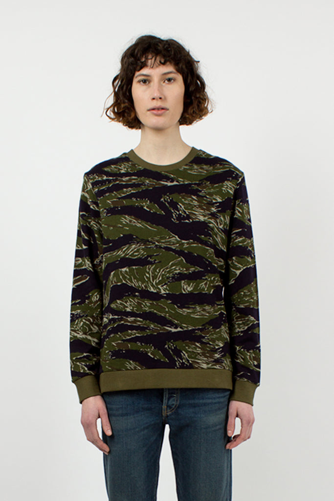 Navy and Olive Camo Zip Sweatshirt