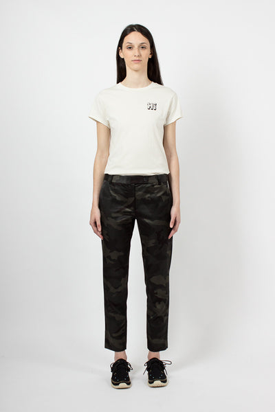 Grey Camo Cropped Trouser