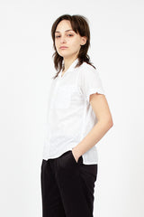 White Floral Eyelet Camp Shirt