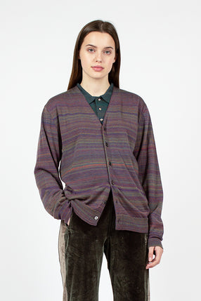 Splashed Cardigan Purple