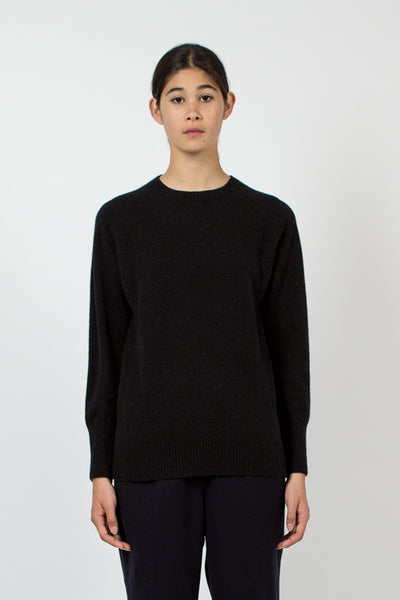 Dark Charcoal Cashmere Crew Neck