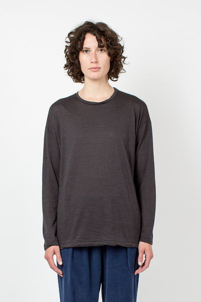 Charcoal Long Sleeve Top