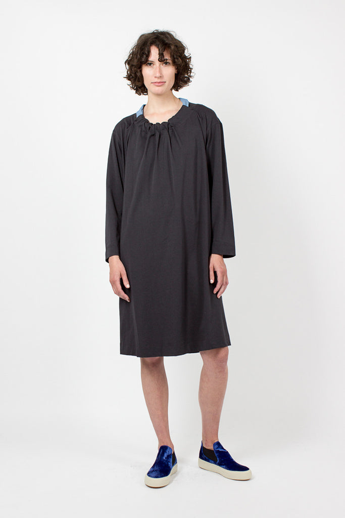 Charcoal and Opal Long Sleeve dress