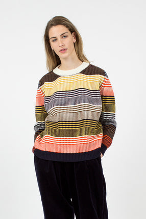 Inver Rib Knit Multi Stripe Jumper