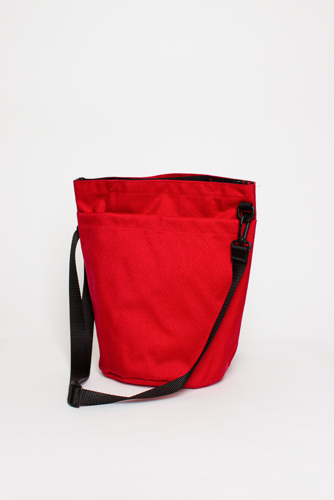 B.I.P. Red Circle Shoulder Tote Bag