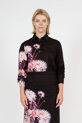 Black Floral Clavelly Shirt