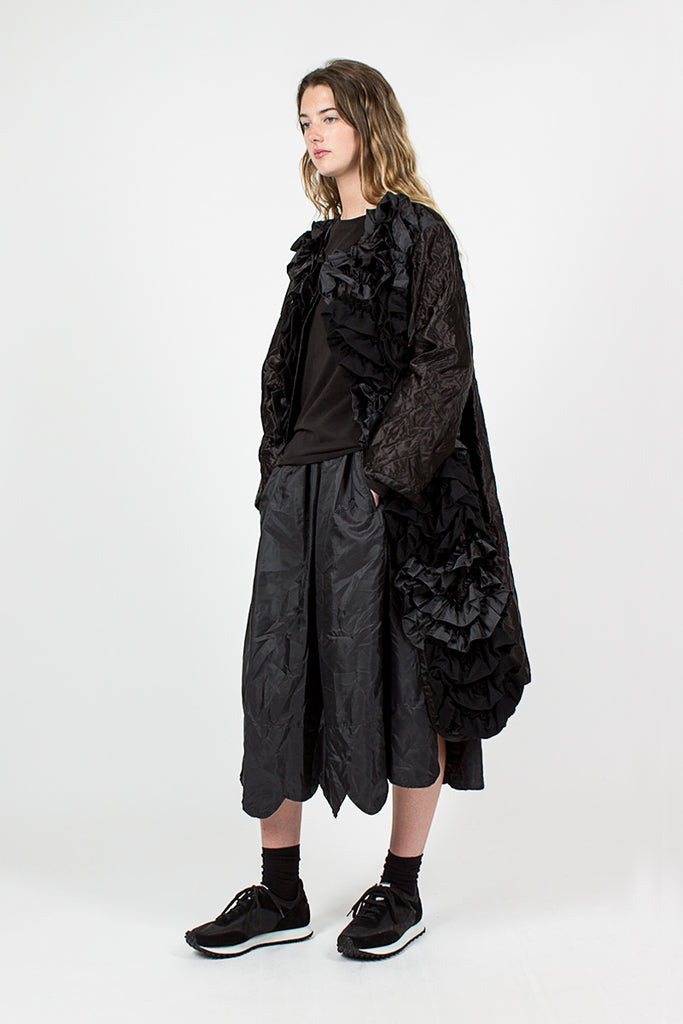 Ruffle Applique Coat
