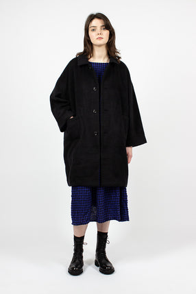Mosser Alpaca Coat Black