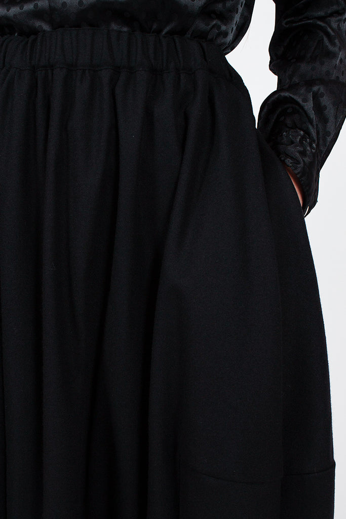 Black Cocoon Skirt