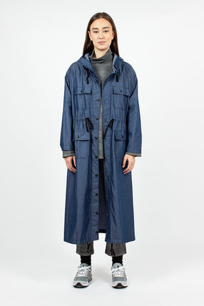 Cagoule Dress Dark Blue Lightweight Denim