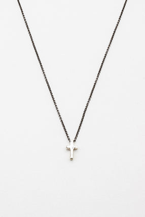 Peici Silver Cross Necklace