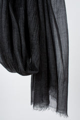 Feather Toosh Black Shawl