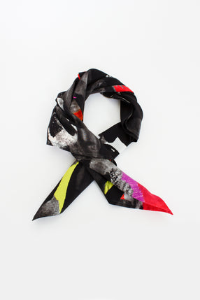 Printed Neckerchief Multi Silk