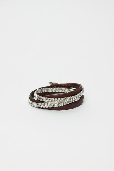 Brown A2 Double Wrap Split Bracelet