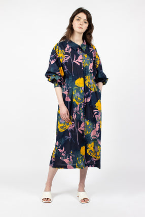 Darlo Dress Navy Floral