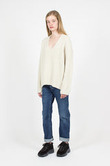 Deborah Lambswool Sweater Cold Beige