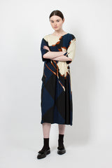 Navy Delfont Dress