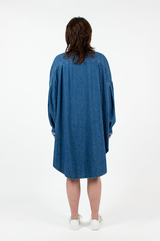 Indigo Oversized Shirt Dress