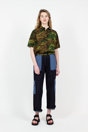 Denim Tropical Combat Pants