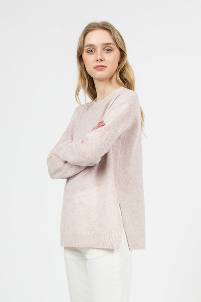 Pink Melange Deniz Sweater