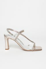 Silver Jewelled Sandal