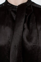 Doree Black Satin Dress