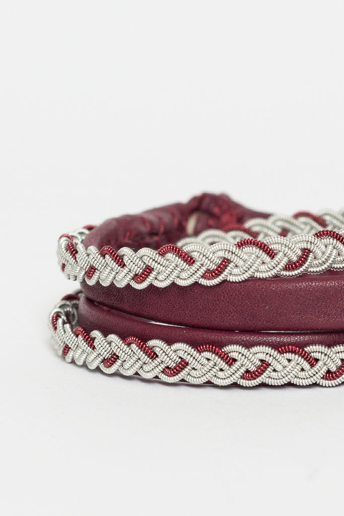 Bordeaux Loose Wrap Bracelet