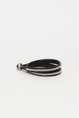 Double Wrap Black Bracelet