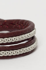 Double Wrap Brown Bracelet