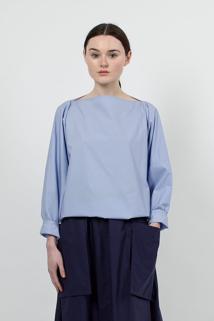 Barcelona Poplin Blouse Dragée Blue