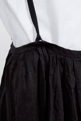 Navy Drawstring Suspender Skirt