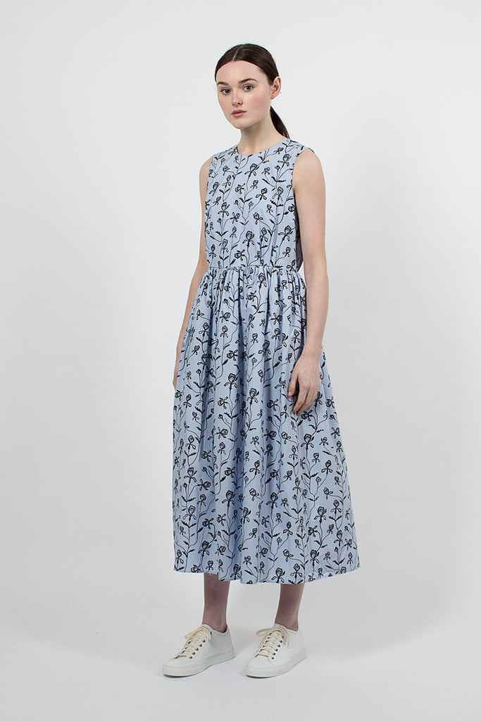 Drissia Dress Blue Flower