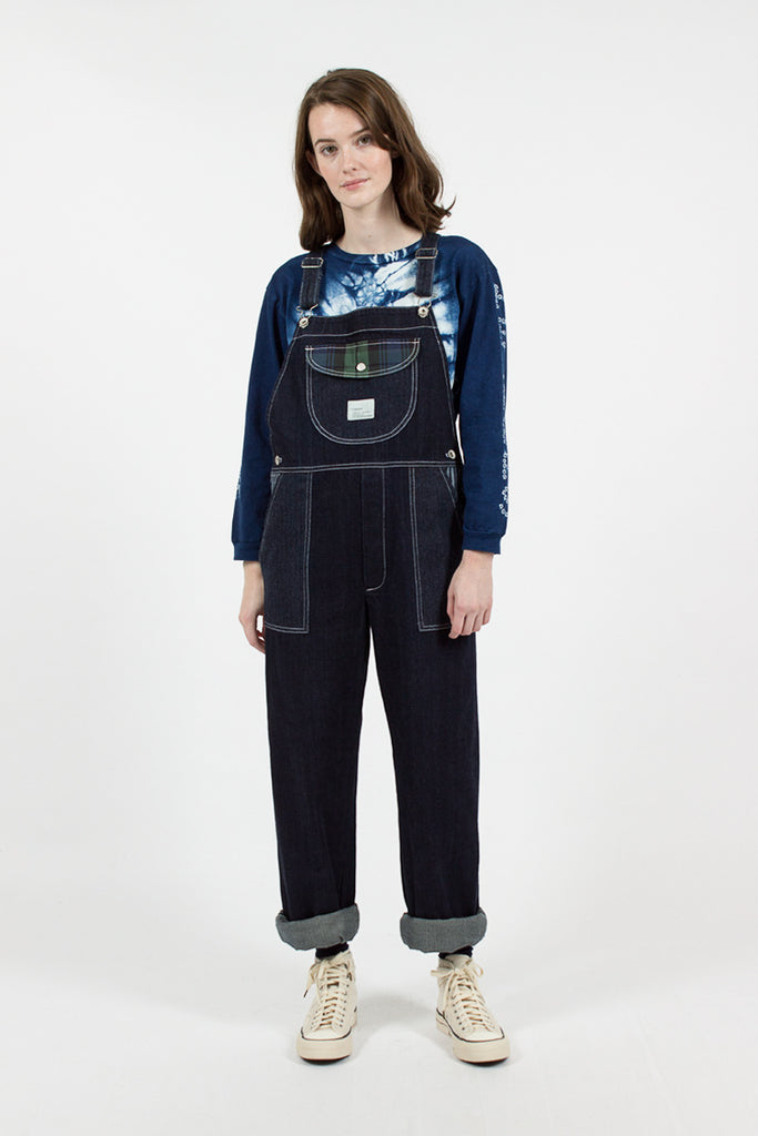 Front Pocket Denim Dungarees