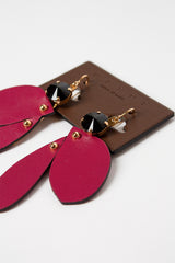 Dry Rose Leather Earrings