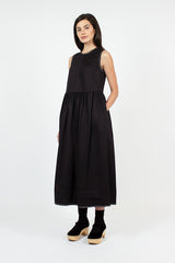 Evelyn Pleat Back Sleeveless Dress