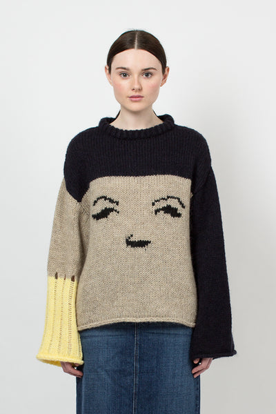 Multi Face Intarsia Sweater