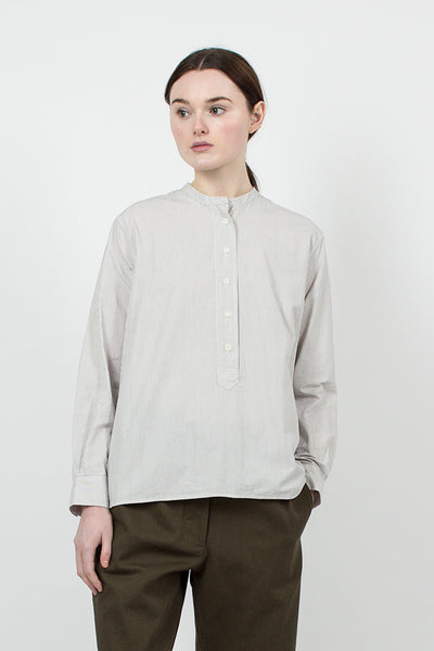 Ecru/Blue Stripe Swing Shirt