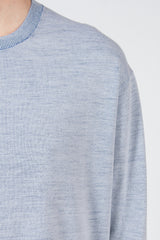 Off-white/Blue Finola 2Tone Sweater