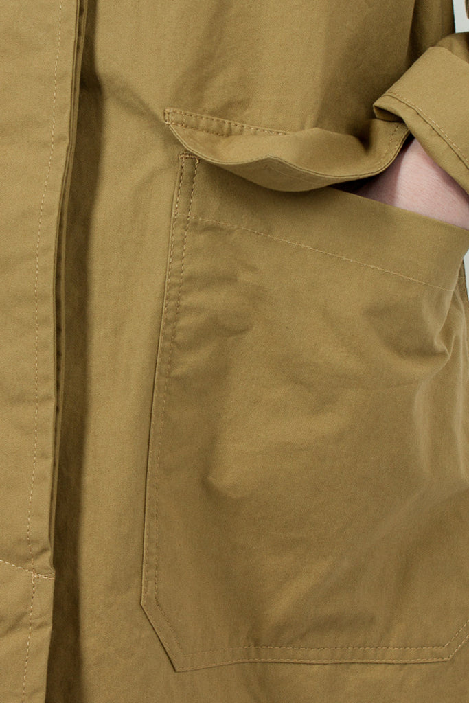 Waxed Cotton Fisherman's Mac Faded Olive