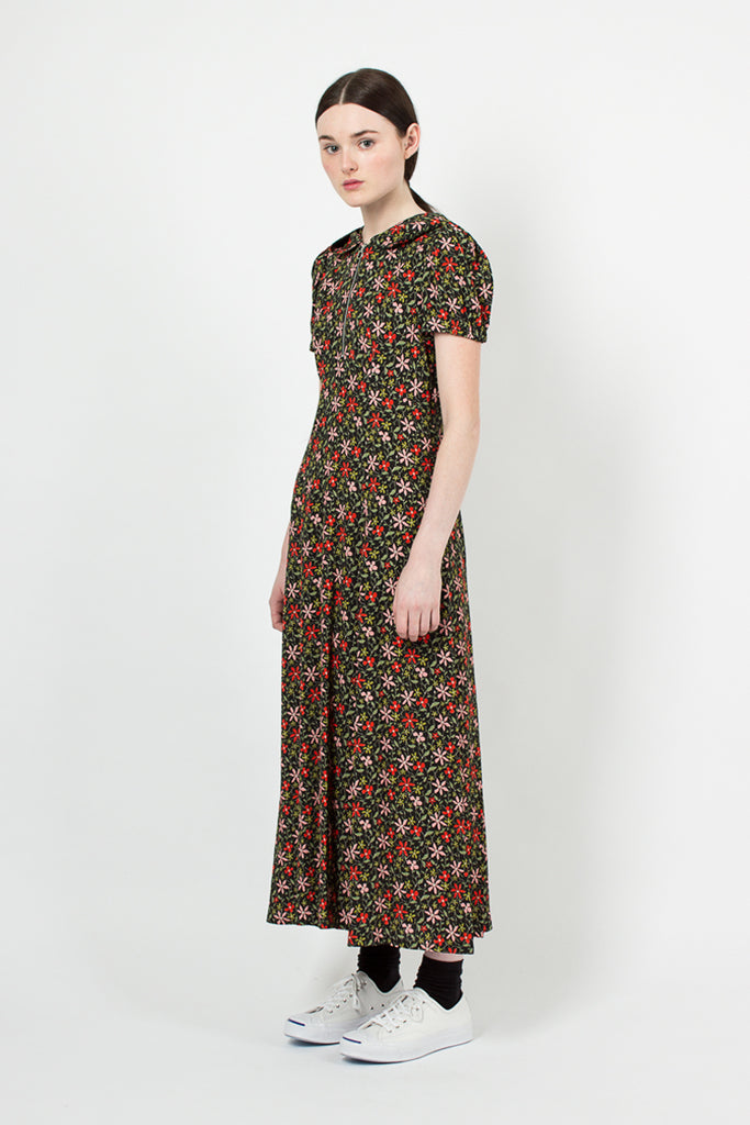Floral Hooded Dress