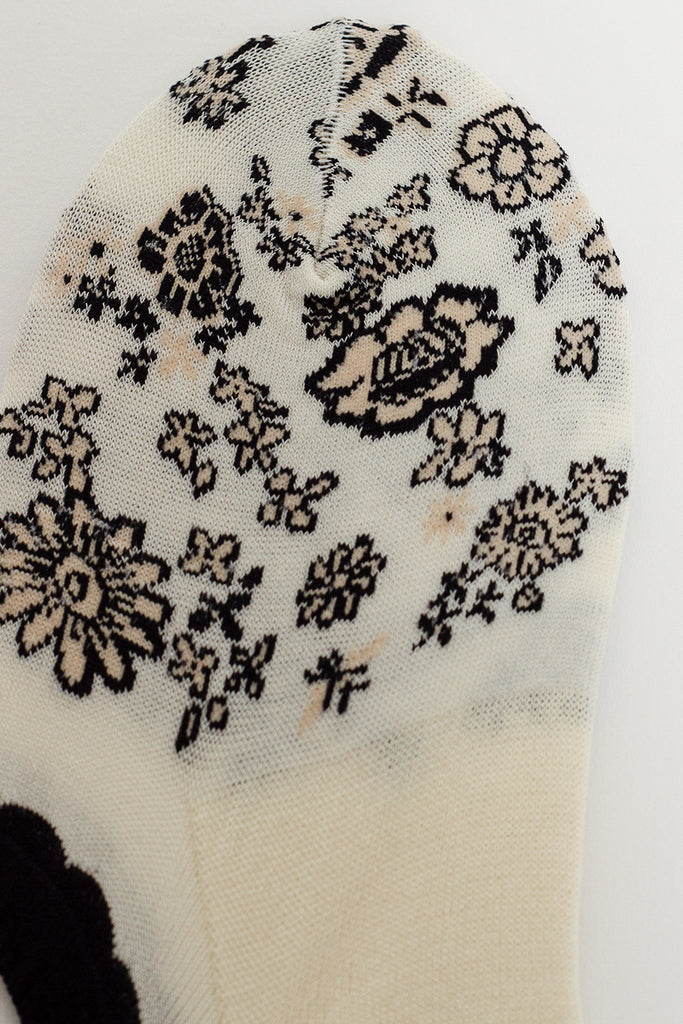 Flower Carpet Ivory Cover Sock