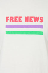 White 'FREE NEWS' Mini Boy T