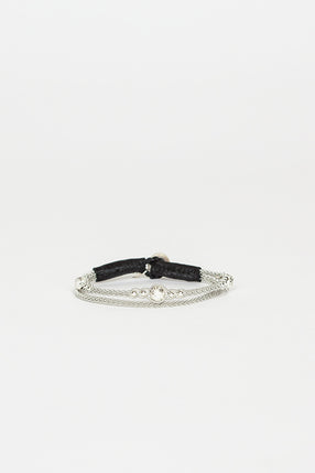 Gaia Silver/Black Beaded Bracelet