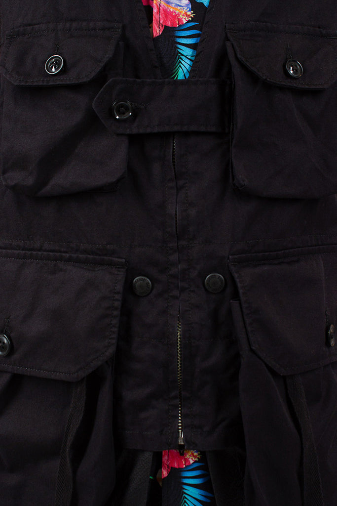 Black Highcount Twill Game Vest