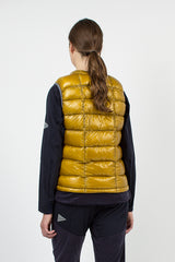 Yellow Diamond Stitch Down Vest