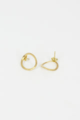 Bo Song Yellow Gold  Earrings