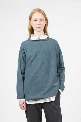 Indigo Blue Long Sleeve Big T-Shirt