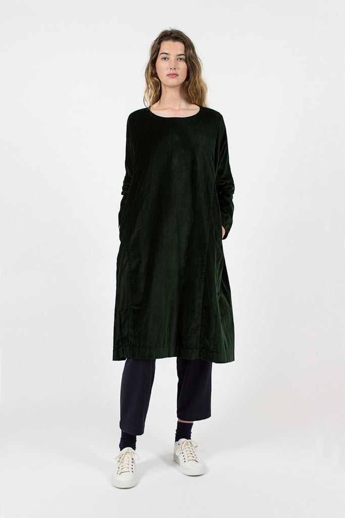 Pyj Bottle Green Rouch Dress