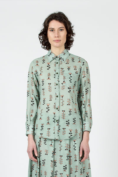 Waterfall Vine Print Shirt